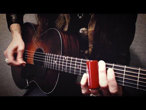PIckin' the Acoustic Slide Guitar!