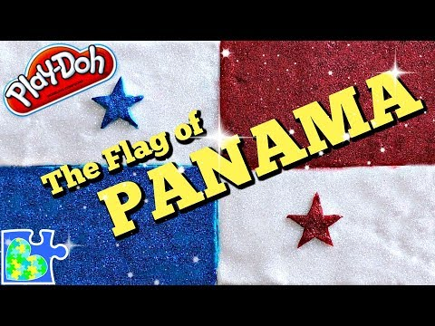 Play doh - Play-Doh FLAG of PANAMA!  Panama Flag  Flags of the World