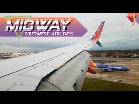Windy Chicago! Southwest Airlines 737-800 Midway Landing