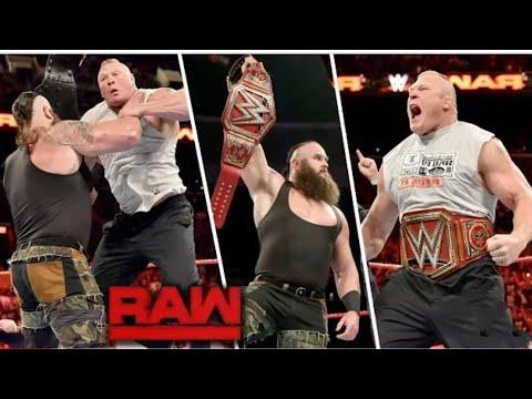 Brock Lesnar Return To WWE RAW 30th July 2018 Highlights Braun Strowman Attacks Brock Lesnar