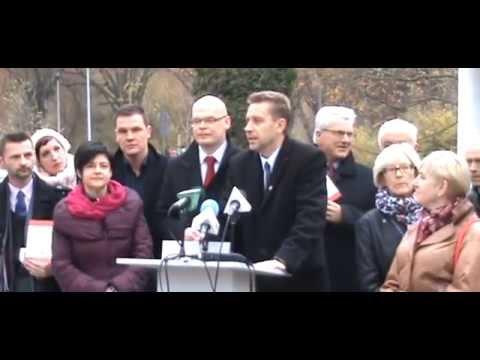 """Zapis wideo z dzisiejszej konferencji kończącej kampanię samorządową KKW SLD """"Lewica Razem"""" w Koszalinie"""