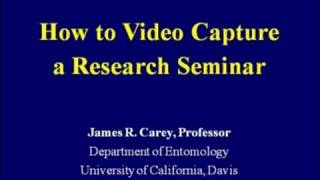 How To Video Capture A Research Seminar