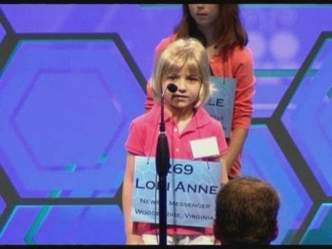 Six-year-old shows off her skills at the National Spelling Bee