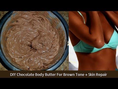 DIY Chocolate Body Butter For Brown Tone +Skin Repair