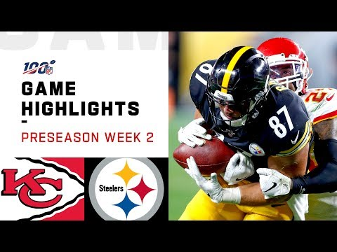 Chiefs vs. Steelers Preseason Week 2 Highlights | NFL 2019