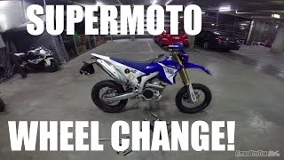 7. WR250R Wheel Change! Supermoto Conversion!