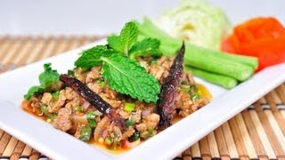 [Thai Food] Spicy Duck Meat Salad With Ground Roasted Rice (Larb Ped)