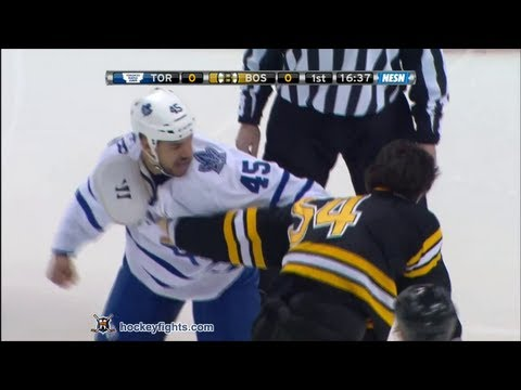 Fraser - Mark Fraser vs Adam McQuaid from the Toronto Maple Leafs at Boston Bruins game on Mar 7, 2013. via http://www.hockeyfights.com.
