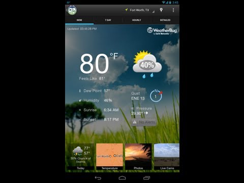 App Review – The NEW WeatherBug for Android