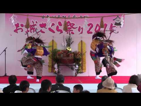 子ども神楽フェスティバル2015 滝尾小学校神楽倶楽部『鹿児弓』前編