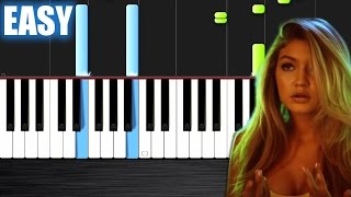 Calvin Harris & Disciples - How Deep Is Your Love - EASY Piano Tutorial  Ноты и МИДИ (MIDI) можем вы