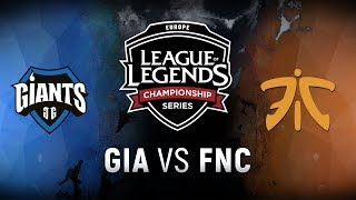 Video GIA vs. FNC - Week 9 Day 1 | EU LCS Spring Split |  Giants Gaming vs. Fnatic (2018) MP3, 3GP, MP4, WEBM, AVI, FLV Juni 2018