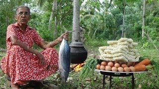 Video Tuna Fish Noodles - cooking 50 instant noodles in my village by Grandma MP3, 3GP, MP4, WEBM, AVI, FLV Desember 2018