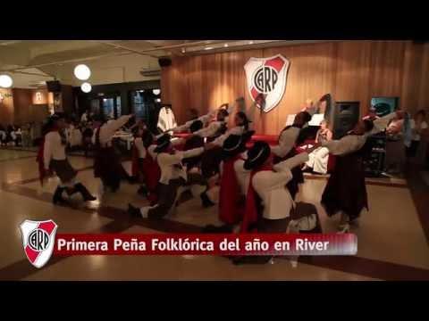 Primera peña de folklore del año en River