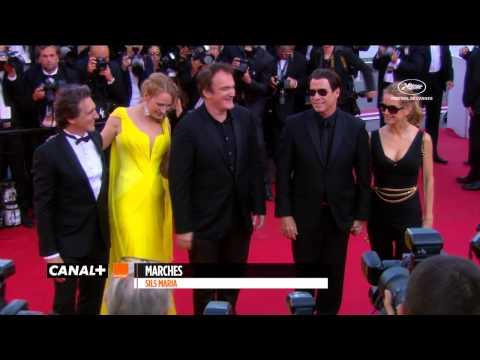 Cannes - Montée des Marches pour les 20 ans de Pulp Fiction avec Quentin Tarantino, Uma Thurman et John Travolta pour le Festival de Cannes 2014.