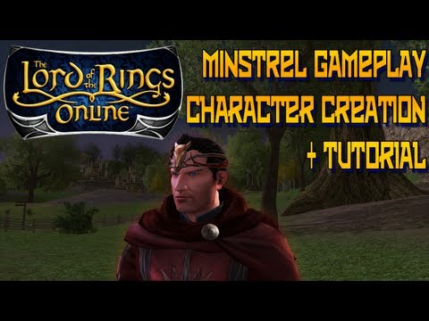 lotro minstrel - Sign up for LOTRO here: http://goo.gl/tiR2c This walkthrough shows use of the Character creator to build a Minstrel with the tutorial as the gameplay portion...