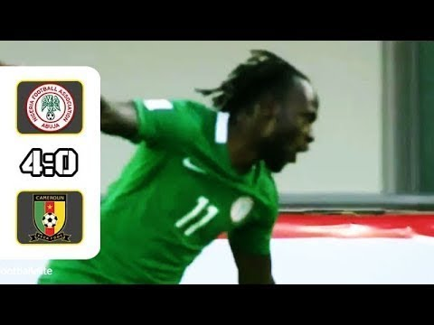 Nigeria Vs Cameroon 4-0 - All Goals & Highlights | World Cup Qualification CAF - 1/9/2017 [HD]