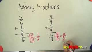Learn Adding Fractions with Common Denominator Video. This math tutorial will enable children to learn how to add fractions with a common denominator. While watching pay attention to the rules and get more practice solving similar problems. This tutorial is for children from 2nd, 3rd to 5th grades. Visit the link for extra practice