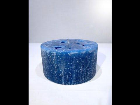 vela azul técnica gelo