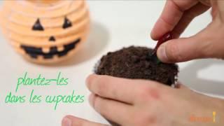 Cupcakes d'Halloween super rigolos