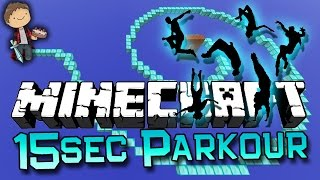 Minecraft: 15 Second Parkour Racing Challenge! w/Mitch and Jerome!