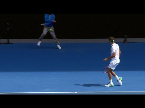 WATCH: Australian Open Linesman Takes Serve Below The Belt