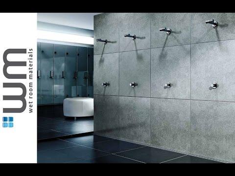 Wet Room 1K Unislope® Wall Drain Installation