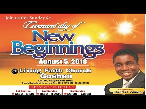 Covenant Day Of New Beginnings  (1st Service ) August 05, 2018
