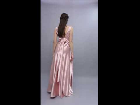 Satin Long Bridesmaid Dresses 2016
