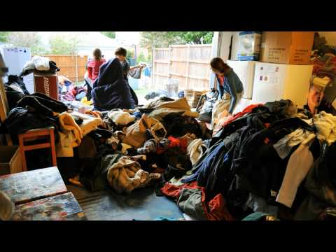 moving a lot of coats and blankets for sorting…