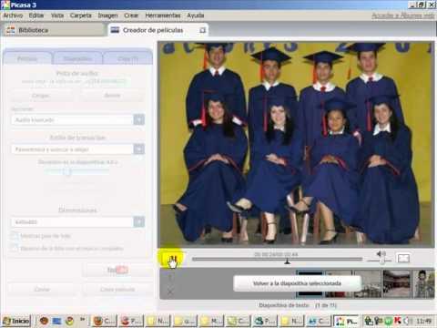 Video 1 de Picasa: Crear vídeos