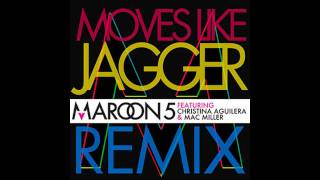 Thumbnail for Maroon 5 ft. Mac Miller & Christina Aguilera — Moves Like Jagger (Remix)
