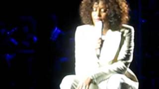 Whitney Houston live onstage singing to daughter Bobby Christina in Brisbane
