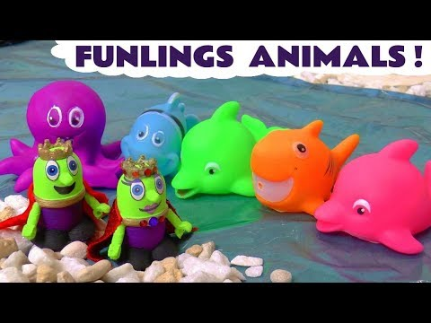 Funny animals - Learn Colors and Animals with the Funny Funlings Hide and Seek Game - A fun story for kids