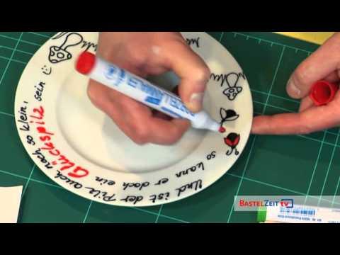 Bastelzeit TV 99 - PorcelainPEN Teller gestalten