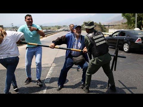 Βενεζουέλα: Συγκρούσεις στα σύνορα για την ανθρωπιστική βοήθεια…