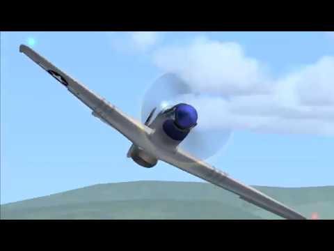 P51 NTTM FSX P-51 Moorea Tahiti Aerosoft Bora Bora Airshow (видео)