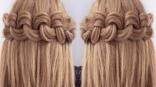 простые прически на распущенные волосы средней длины