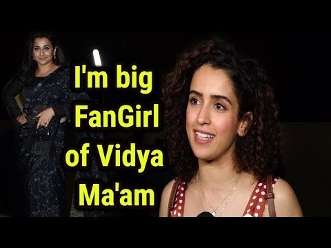 Sanya Malhotra As FanGirl For Iconic Vidya Balan