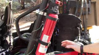 We show you our DIY fire extinguishers on a Kawasaki Teryx T4.
