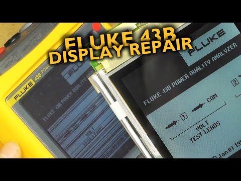 Fluke 43B LCD repair