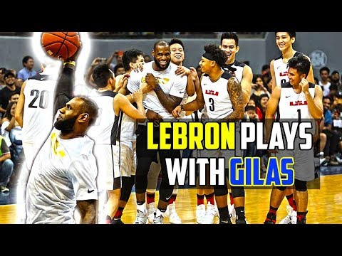 LEBRON plays with GILAS | Lebron James in Manila 2017 Highlights