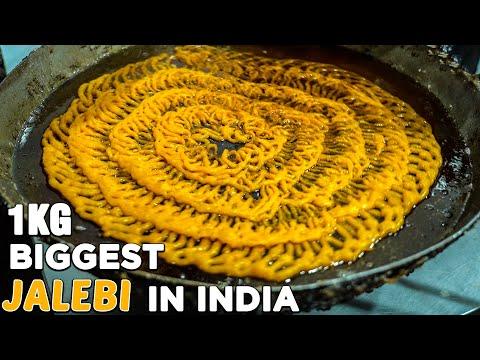 BIGGEST JALEBI IN MUMBAI   1 KG JALEBI   Diwali Special Jalebi   Satu Sweets