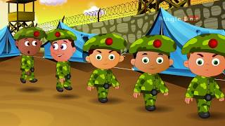 Five Little Soliders  - English Nursery Rhymes - Animated/ Cartoon Songs For Kids