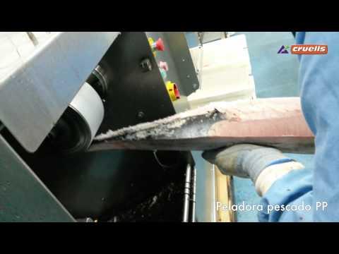 Peladora y limpiadora de pescado
