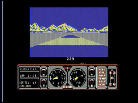 Commodore 128 with SuperCPU playing Hard Drivin