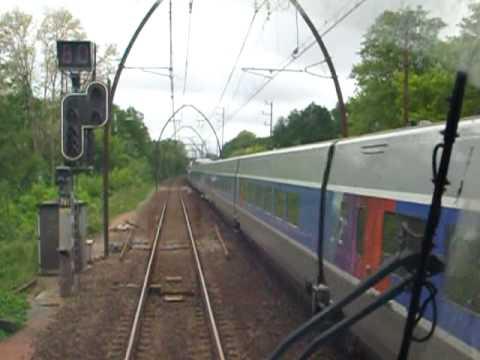 'J'aime le train'  Voyage en cabine de conduite AGC B 81 500