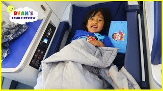 Video Ryan's first Business Class Airplane Ride  To Japan + Japan Hotel Tour!!! MP3, 3GP, MP4, WEBM, AVI, FLV Juli 2019