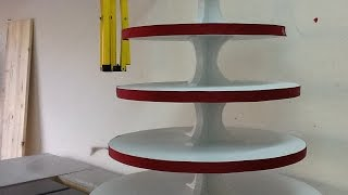 This is a tutorial for building a wedding cup cake stand