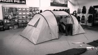 Большая кемпинговая палатка с двумя раздельными спальнями High Peak Tauris 4